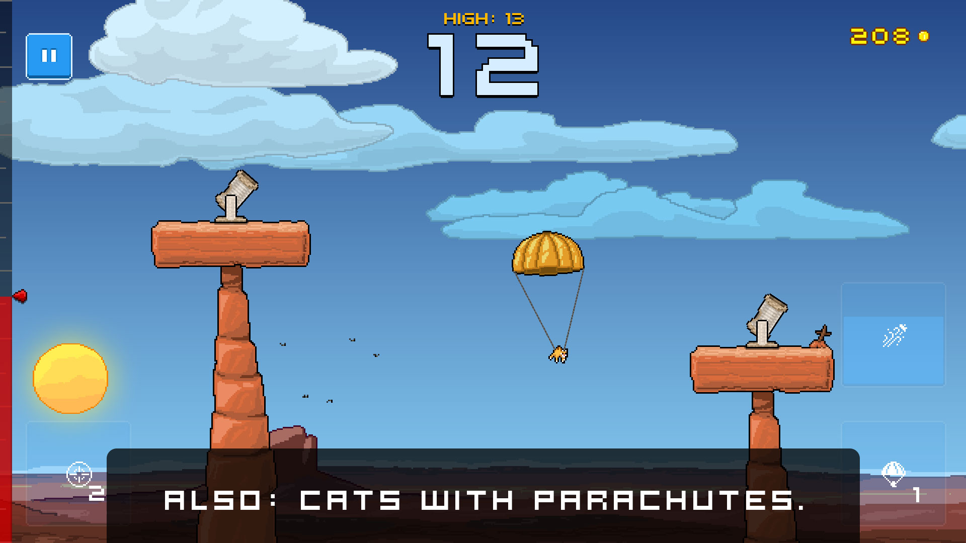 Human Cannonball - Cats with parachutes