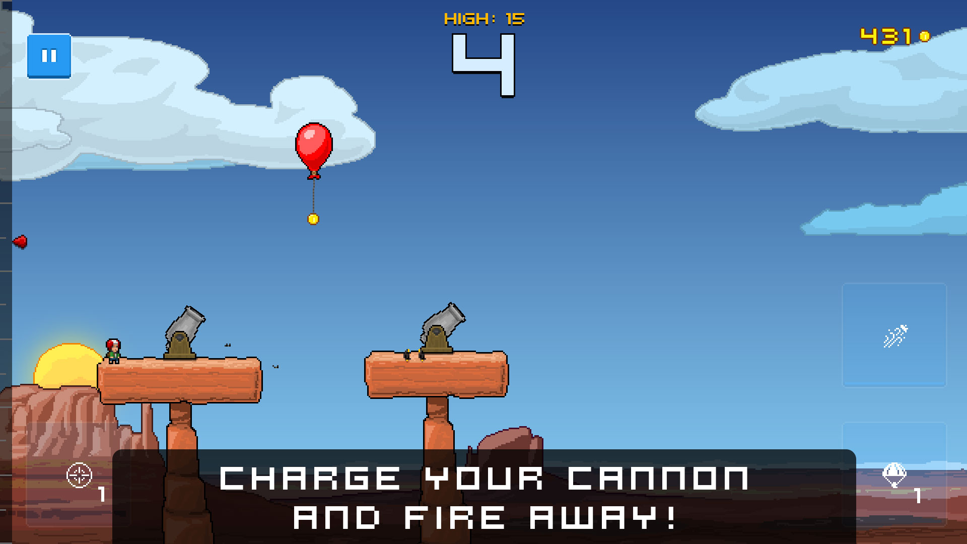 Human Cannonball - Charge your cannon