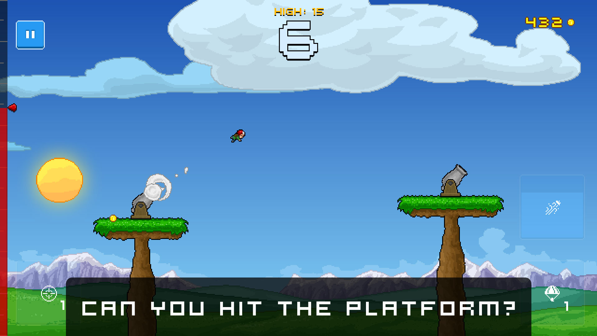 Human Cannonball - Can you hit the platform?