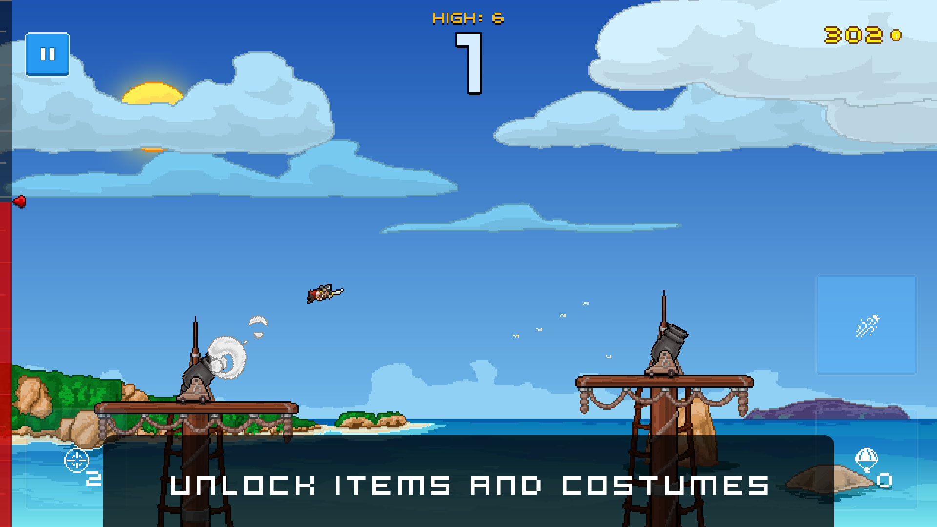 Human Cannonball - Unlock items and skins